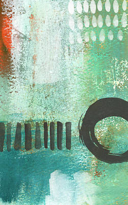 Abstract Royalty-Free and Rights-Managed Images - Open Gate- Contemporary Abstract Painting by Linda Woods