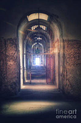 Photograph - Open Gate To Prison Hallway by Jill Battaglia