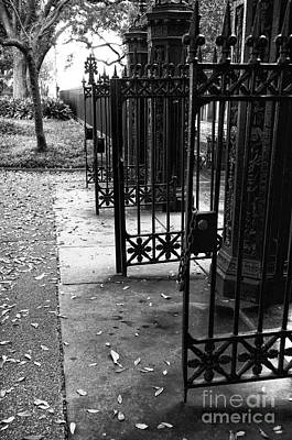 Photograph - Open Gates In Jackson Square Mono by John Rizzuto