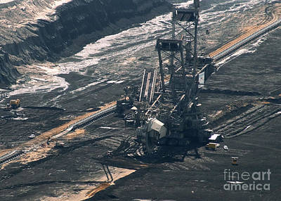 Photograph - Open Pit Brown Coal Mining 2 by Rudi Prott