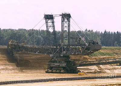 Photograph - Open Pit Brown Coal Mining 3 by Rudi Prott