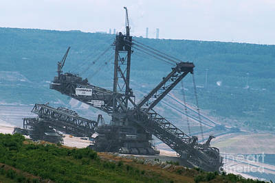 Photograph - Open Pit Brown Coal Mining 5 by Rudi Prott
