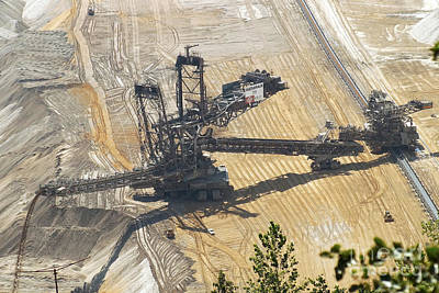Photograph - Open Pit Brown Coal Mining 6 by Rudi Prott