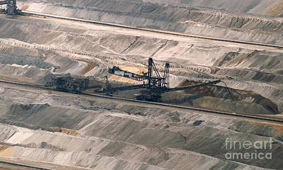 Photograph - Open Pit Brown Coal Mining 7 by Rudi Prott