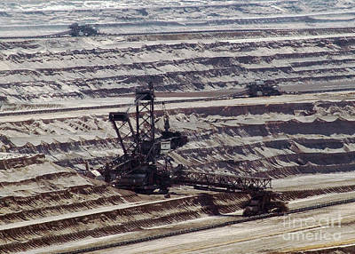 Photograph - Open Pit Brown Coal Mining 9 by Rudi Prott