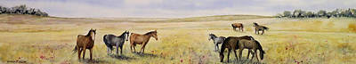 Wall Art - Painting - Open Range by Linda McCallum