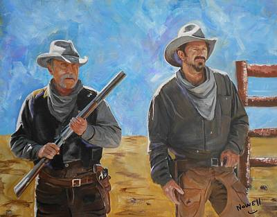 Kevin Costner Painting - Open Range - Shoot Out by Peter Nowell