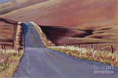 Painting - Open Road by Betsee  Talavera