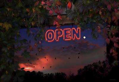Open Art Print by Ron Jones