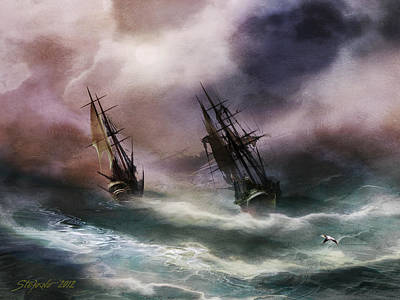 Open Sea Dangerous Drift Art Print