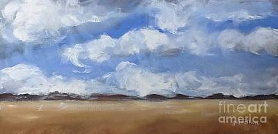 Cloudy Day Painting - Open Sky by Gail Heffron