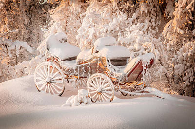 Photograph - Open Sleigh On Christmas Day by Valerie Pond