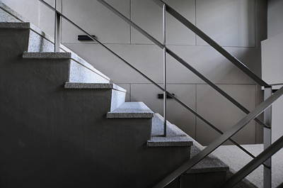 Photograph - Open Stairwell In A Modern Building by Primeimages