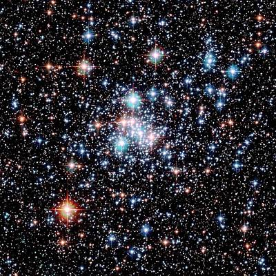 Open Star Cluster Ngc 290 Art Print by E. Olszewskiu. Arizonanasaesastsci