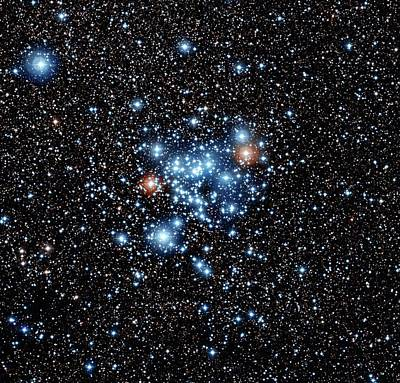 Open Star Cluster Ngc 3766 Art Print by European Southern Observatory