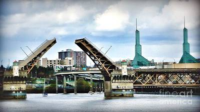Photograph - Open The Bridge by Susan Garren