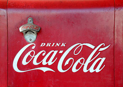 Coca-cola Signs Photograph - Open The Real Thing by David Lee Thompson