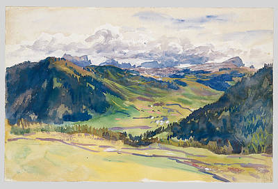 Painting - Open Valley. Dolomites by John Singer Sargent