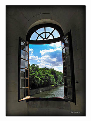 Photograph - Open Window At Chateau Chenonceau by Joan  Minchak