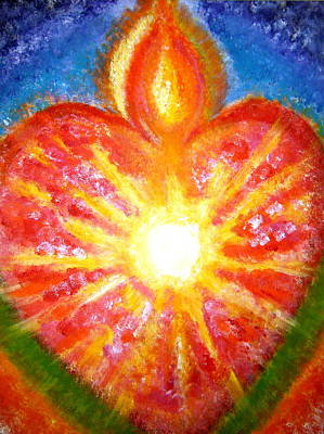 Unity Painting - Open Your Heart To Let God Out by Sister Rebecca Shinas
