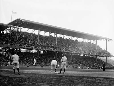 Opening Day At Griffith Stadium - Washington Dc 1922 Art Print by Mountain Dreams