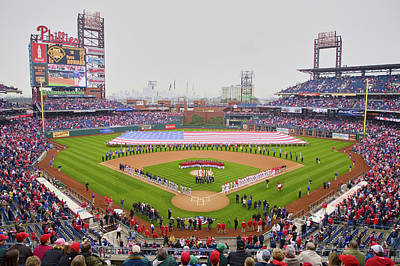 Stadium Scene Photograph - Opening Day Ceremonies Featuring by Panoramic Images