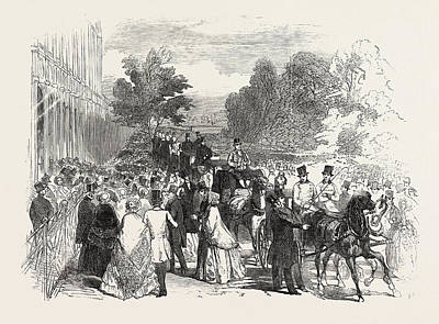 Garden Entrance Drawing - Opening Of The Great Exhibition, South Entrance by English School