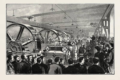 Liverpool Drawing - Opening Of The Liverpool Docks Overhead Electric Railway by English School