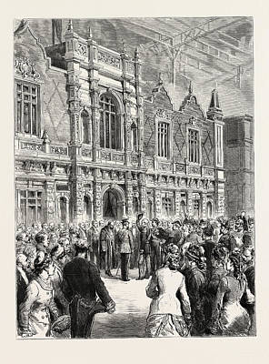 Commission Work Drawing - Opening Of The Paris Exhibition  Presentation by French School