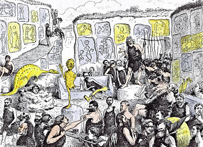 Caricature Drawing - Opening Of The Primeval Royal Academy by Reed, Edward Tennyson (1860-1933), British