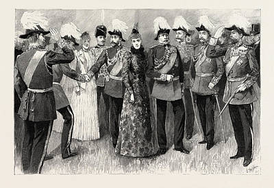 Opening Of The Royal Military Exhibition In The Chelsea Art Print by English School