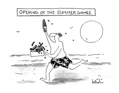 Hotdog Drawing - Opening Of The Summer Games by Arnie Levi