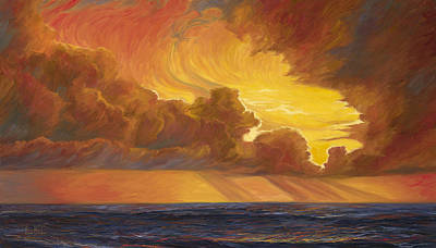 Horizon Painting - Opening Sky by Lucie Bilodeau