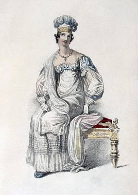 Ostrich Drawing - Opera Dress, Fashion Plate by English School