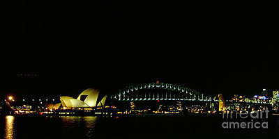 Photograph - Opera House And Harbour Bridge In Sydney Australia by Rudi Prott