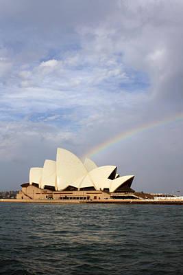 Rainbow Over The Opera House Art Print by Stefan Kaertner