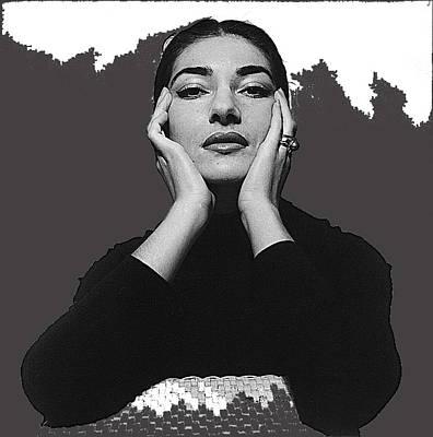 Opera Singer Maria Callas Cecil Beaton Photo No Date-2010 Art Print by David Lee Guss