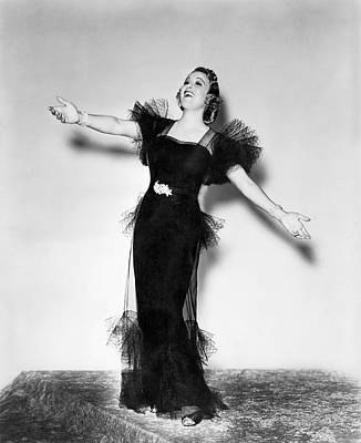 Moore Photograph - Opera Star Grace Moore Sings by Underwood Archives