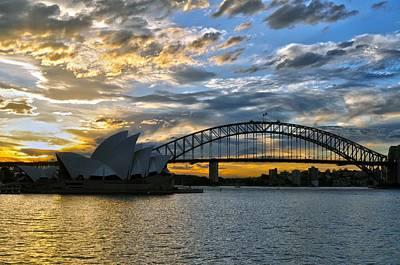Operahouse And Harbourbridge Sydney  Art Print by Stefan Pettersson