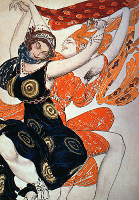 Operatic Costume Designs, 1911 Colour Litho Art Print by Leon Bakst