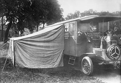 Ambulance Photograph - Operating Ambulance by Library Of Congress