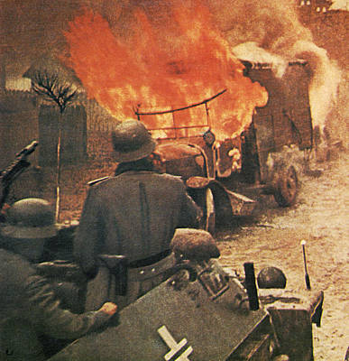 Devastation Photograph - Operation Barbarossa, 1943 by German Photographer