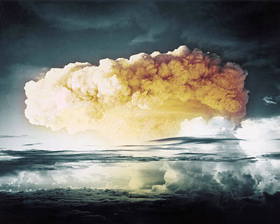 A-bomb Photograph - Operation Ivy Mike, 1952 by OMIKRON/Science Source