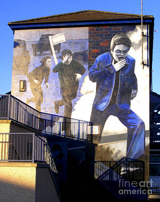 Photograph - Derry Mural Operation Motorman  by Nina Ficur Feenan
