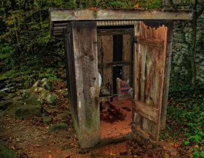 Operational Old Outhouse Art Print