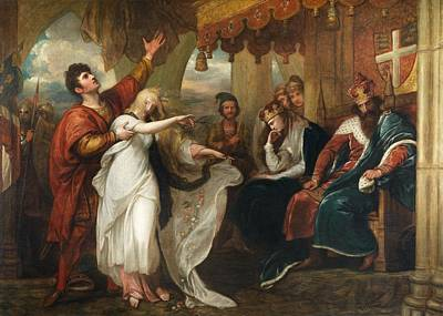 Ophelia And Laertes, 1892 Oil On Canvas Art Print by Benjamin West