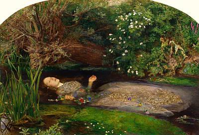 Beautiful Creek Painting - Ophelia by Mountain Dreams