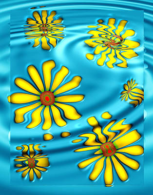 Digital Art - Ophelia's Daisies by Wendy J St Christopher