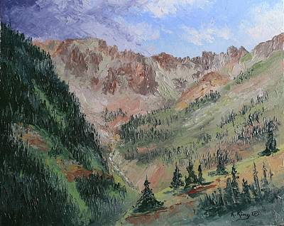 Painting - Ophir Pass En Plein Air by Roena King