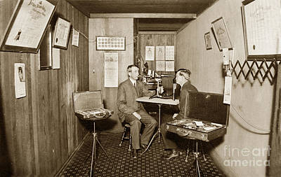 Photograph - Ophthalmologists Eye Doctor Eye Exam Circa 1915 by California Views Mr Pat Hathaway Archives